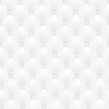 Vector abstract upholstery or white leather texture sofa background