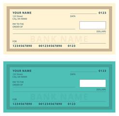 Bank Check with Modern Design. Vector illustration.