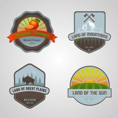 Set of nature emblems