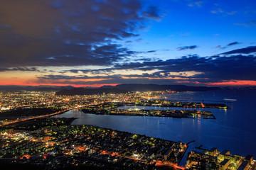 香川県 屋島からの夜景 -獅子の霊巌展望台-