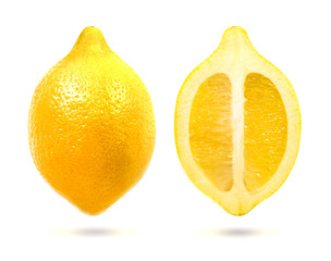 Bright Photo isolated lemon
