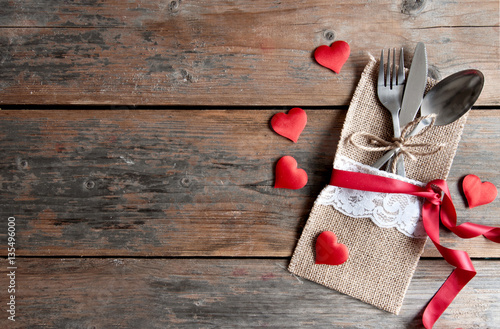 Valentines Day Romantic Dinner Background Stock Photo And Royalty