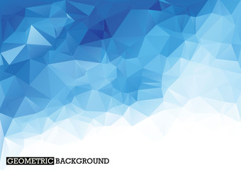 Polygonal light blue background