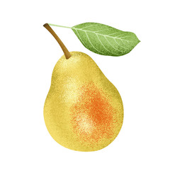 Illustration of colorful pear