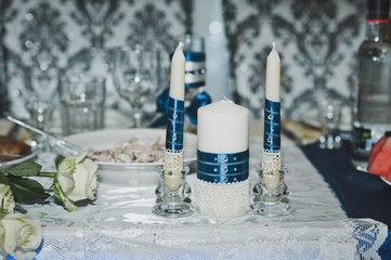 Elements of wedding table decorations 7669.