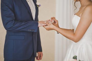 Wedding custom of exchange wedding rings 7696.