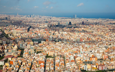 The Eixample district of Barcelona in Spain
