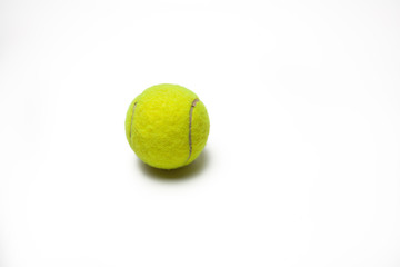 tennis ball isolated white