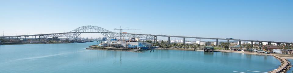 View of Corpus Christi Harbor Bridge from USS Lexington