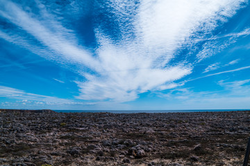 Portugal - White clouds in blue sky