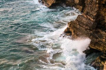 Portugal - Waves braking on cliffs