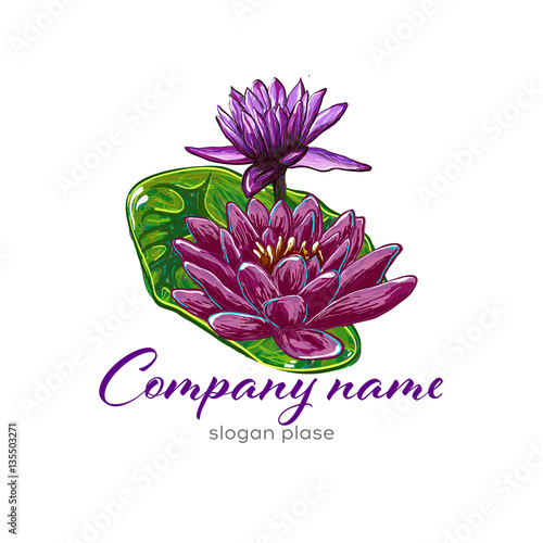lotus logo lotus flower logo beauty logo fashion logo vector logo