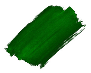 A fragment of the emerald green background painted with watercolors manually