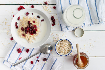 porridge with cranberries