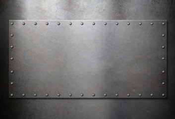 old steel metal plate background