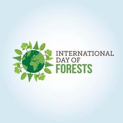 International Day of Forest Vector Illustration.