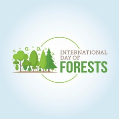 International Day of Forest Vector Illustration.