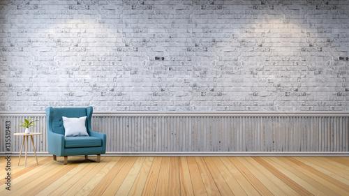 Modern loft interior living room wood flooring blue Photoshop santa in your living room free