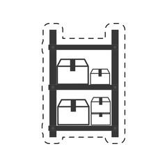 warehouse shelve boxes cargo vector illustration eps 10