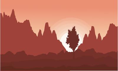 Landscape of cliff at sunrise
