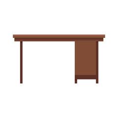 office desk icon over white background. colorful design. vector illustration