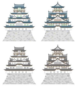 日本の城 4点セット