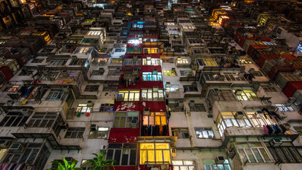 Low class and poor apartment in Hong Kong