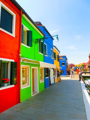 Colorful old houses on the Island Burano