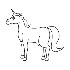 unicorn horse icon over white background. vector illustration