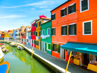 Burano, Venice, Italy - Colorful old houses