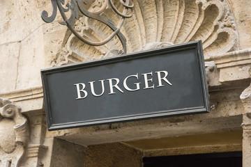 Schild 191 - Burger