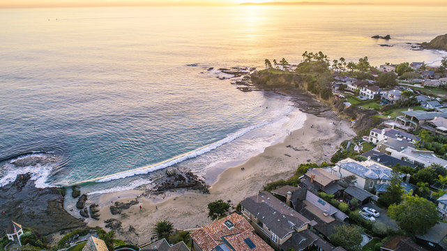 Beautiful Laguna Beach, Orange County during Sunset