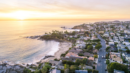 Beautiful Laguna Beach, Orange County during Sunset Wall mural
