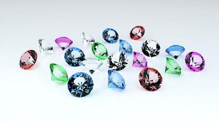 scattering of precious stones