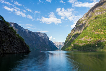Naeroyfjorden in Norway.