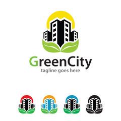 Green City Logo Template Design Vector