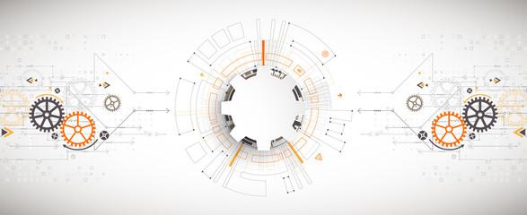 Vector illustration, Hi-tech digital technology and engineering