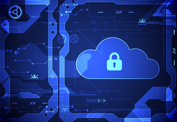 Abstract security cloud technology background.