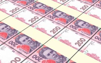 Ukrainian hryvnia bills.
