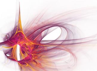 Colored smoke spiral