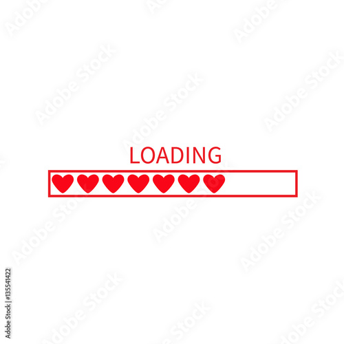Progress loading status bar icon love collection red heart funny progress loading status bar icon love collection red heart funny happy valentines day voltagebd Choice Image