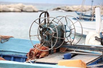 Verricello in barca pescatori