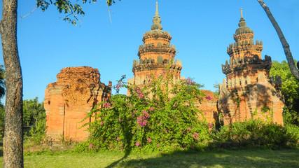 Ruins of buddhist temple in Samut Prakan, Ancient Siam, Thailand