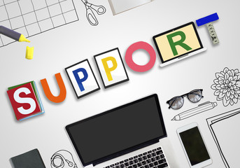 Support Collaboration Team Advice Help Aid Concept
