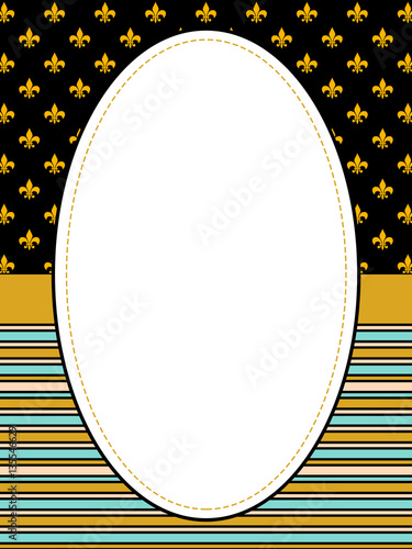 Striped Frame Border With Fleur De Lis Stock Photo And Royalty Free