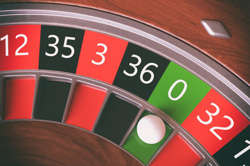 Roulette wheel closeup - 3D Rendering
