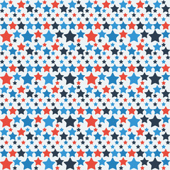 Abstract pattern stars different size 1 blue