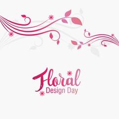 Floral Design Day Vector Illustration