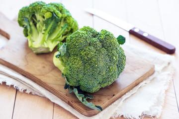 organic raw broccoli
