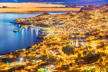 Wall Mural - Panoramic view over Funchal – Madeira island, Portugal